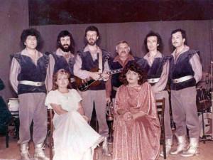 Наш *мушкетёрский* коллектив, Одесса, ресторан гостиницы *Красная* , 1985 год.