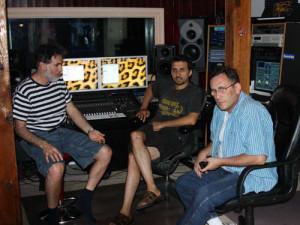 Снова в студии: Денис Мавашев композитор, Леонид Островский композитор, и я.