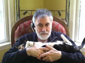 Кошка Маруся на отдыхе